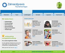 Webdesign: Zahnarztpraxis Kipper